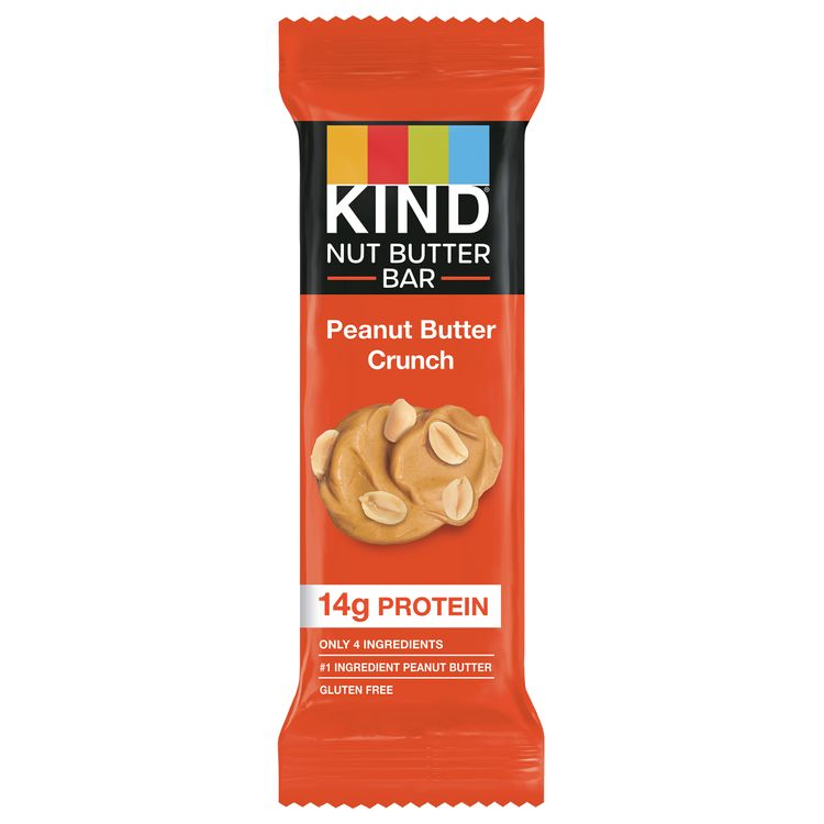 KIND Nut Butter Healthy Snack Bar, Peanut Butter Crunch, 14g Protein, Gluten Free Bars, 50g (1 count)