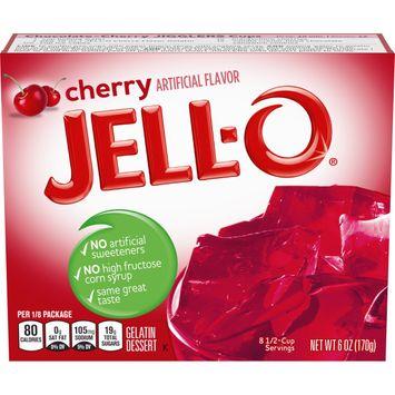 Jell-O Cherry Instant Gelatin Mix, 6 oz Box