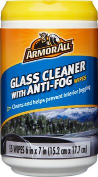 Armor All Glass Cleaner With Anti-Fog Wipes (15 Count)