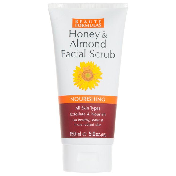 Beauty Formulas - Honey and Alomnd Facial Scrub 150ml/5oz