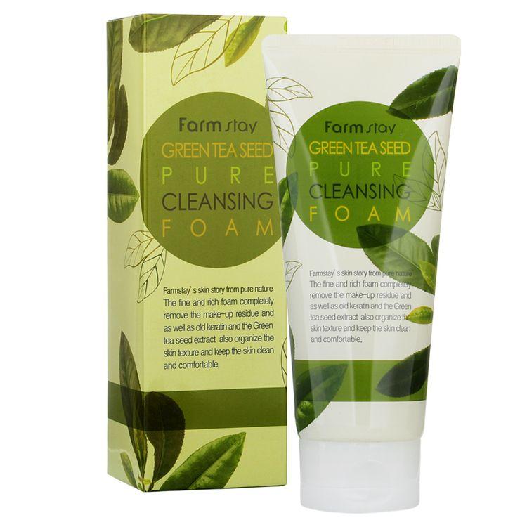 Farm Stay - Green Tea Seed Pure Cleansing Foam 180ml