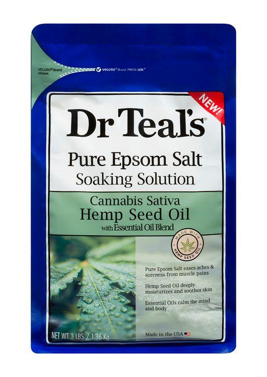 Dr Teals Hemp Seed Oil Epsom Salt Soaking Solution 3lbs