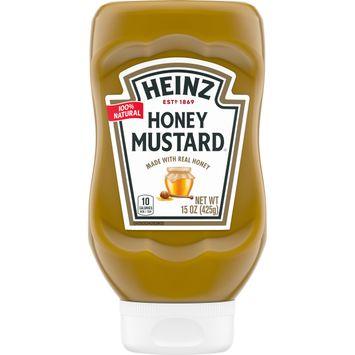 Heinz 100% Natural Honey Mustard with Real Honey, 15 oz Bottle