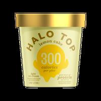 Halo Top Lemon Cake Light Ice Cream Pint , 16 fl oz