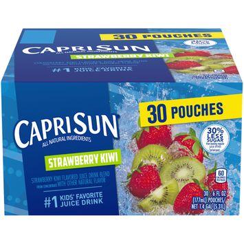 Capri Sun Strawberry Kiwi Flavored Juice Drink Blend, 30 ct. Box