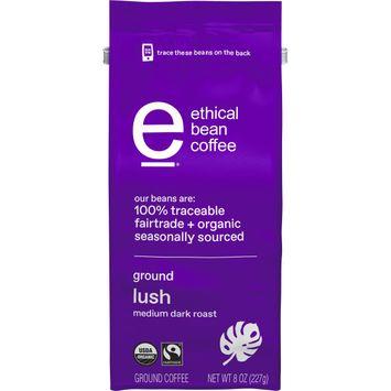 Ethical Bean Fairtrade Organic Coffee, Lush Medium Dark Roast, Ground Coffee
