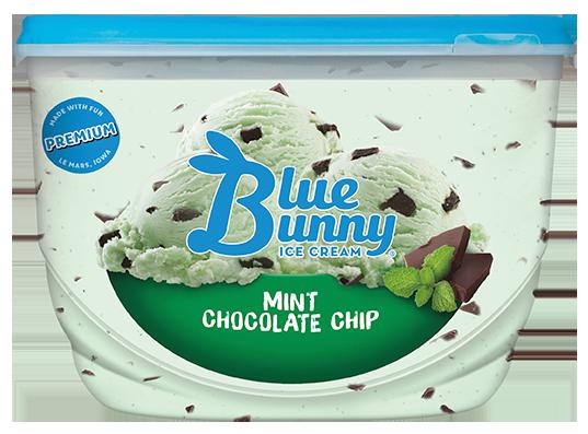 Blue Bunny Premium Mint Chocolate Chip Ice Cream , 48 fl oz