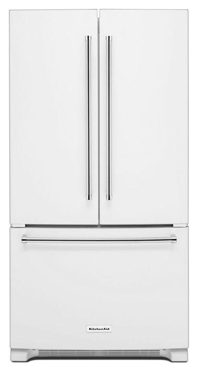 KitchenAid 25 Cu. Ft. 36-Width Standard Depth French Door Refrigerator with Interior Dispense