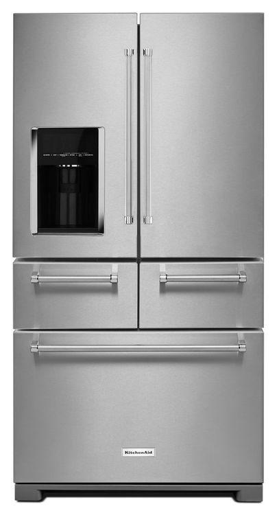 KitchenAid Réfrigérateur non encastré à portes multiples de 25.8 pi cu et 36 po avec intérieur platine