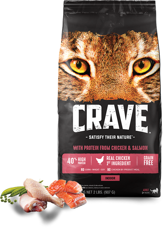CRAVE™ INDOOR WITH PROTEIN FROM CHICKEN + SALMON