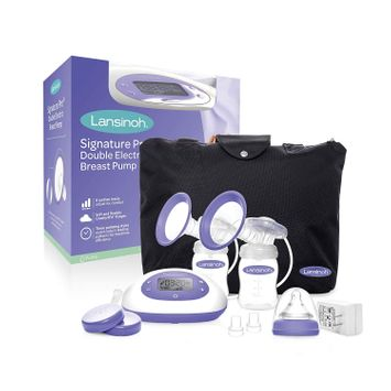 Lansinoh Signature Pro® Double Electric Breast Pump with Tote Bag