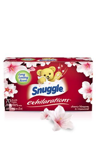 Snuggle® Exhilarations® Cherry Blossom & Rosewood® Dryer Sheets