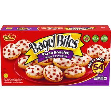 Bagel Bites Cheese & Pepperoni Mini Bagels, Frozen Appetizer, 54 ct - 42.0 oz Box