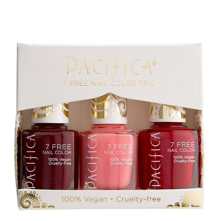 Pacifica Beauty Holiday Polish Trio in Holiday Reds