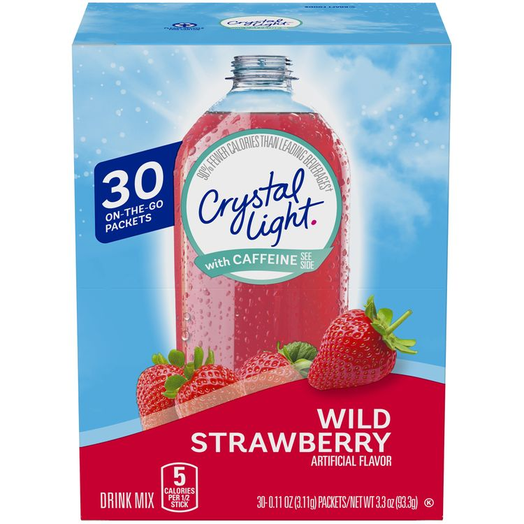 Crystal Light On-The-Go with Caffeine Wild Strawberry Drink Mix