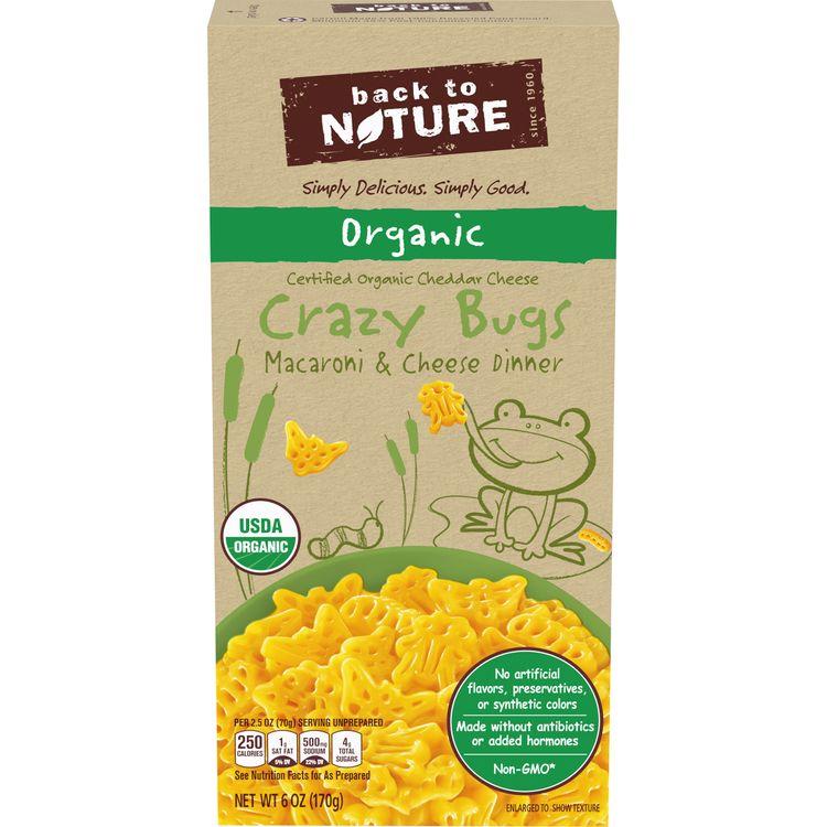 Back to Nature Organic Crazy Bugs Macaroni and Cheese, 6 oz Box