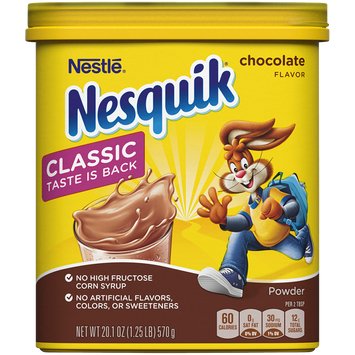 Nesquik Chocolate Flavored Powder Canister