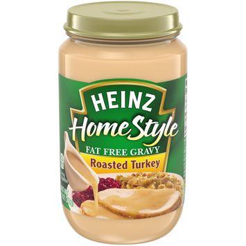 Heinz HomeStyle Roasted Turkey Fat Free Gravy, 12 oz Jar