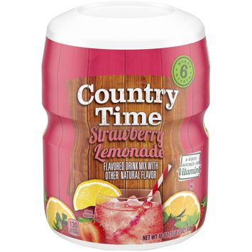 Country Time Strawberry Lemonade Flavored Powder Drink Mix, 18 oz Container