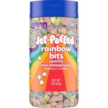 Jet-Puffed Rainbow Vanilla Marshmallow Bits, 3 oz Bottle