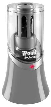Westcott iPoint Evolution Titanium Bonded Pencil Sharpener, Black/Grey