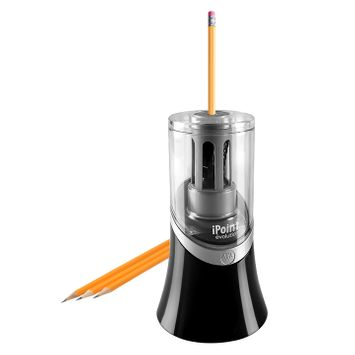 Westcott iPoint Evolution Electric Pencil Sharpener, Black and Silver (14888)