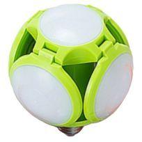 E27 30W Led Pliant Ampoule Ufo De Football Haute Luminosité à L'intérieur Vert