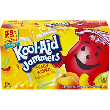 Kool Aid Jammers Peach Mango Artificially Flavored Drink, 10 ct. Box