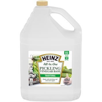 Heinz All-In-One Traditional Pickling Vinegar Base with Pickling Sault & Real Sugar, 1.32 gal Jug