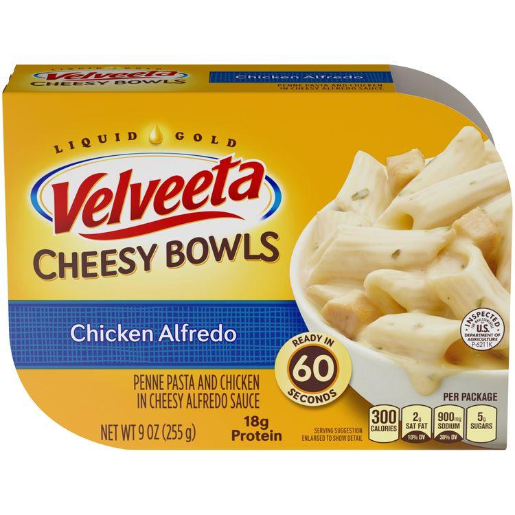 Velveeta Cheesy Bowls Chicken Alfredo, 9 oz Box