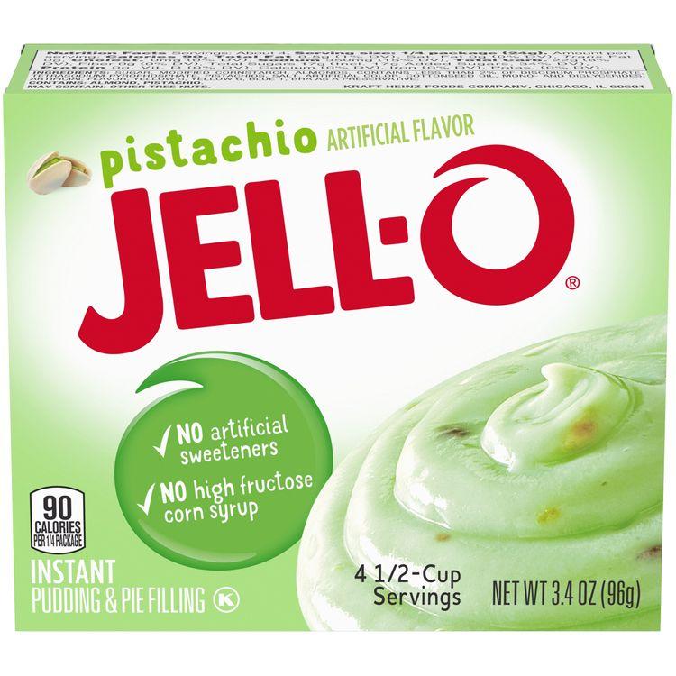 Jell-O Pistachio Instant Pudding Mix, 3.4 oz Box
