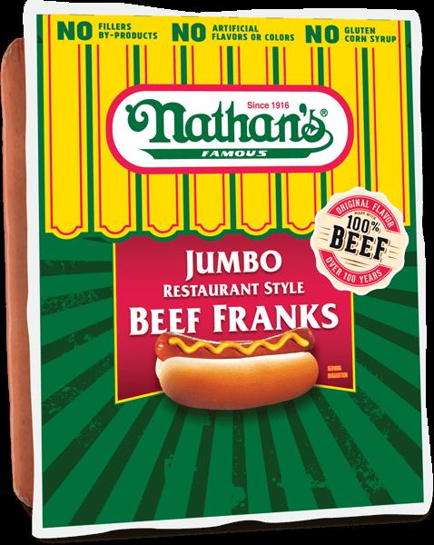 Nathan's Famous Farmland Jumbo Beef Franks