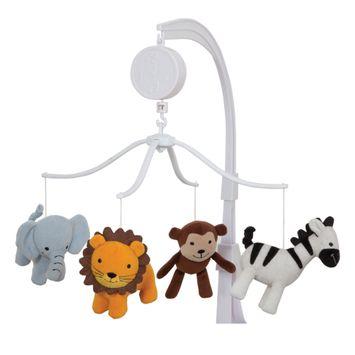 Lambs & Ivy Jungle Buddies Musical Baby Crib Mobile