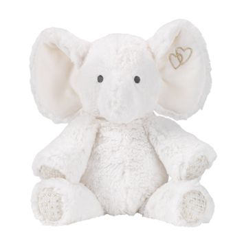 Lambs & Ivy Signature Jamboree White/Gold Plush Elephant Stuffed Animal - Marshmallow