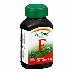Jamieson Vitamin E 200 IU, GMO-Free, 100 Capsules