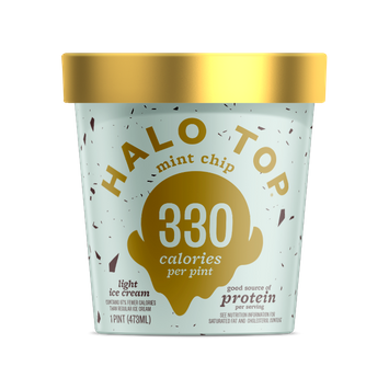 Halo Top Mint Chip Light Ice Cream Pint 16 Oz.
