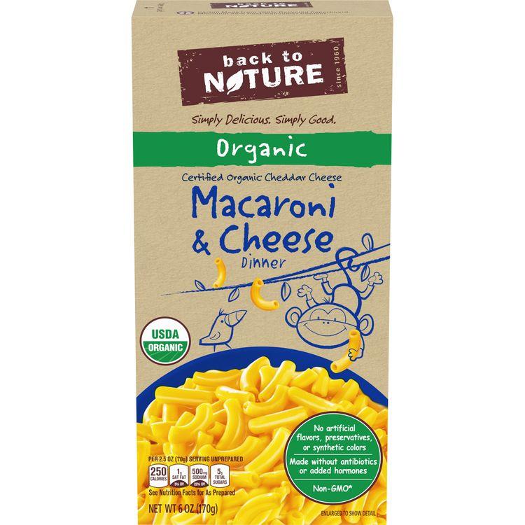 Back to Nature Organic Macaroni & Cheese, 6 oz Box
