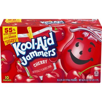 Kool Aid Jammers Cherry Artificially Flavored Drink, 10 ct. Box