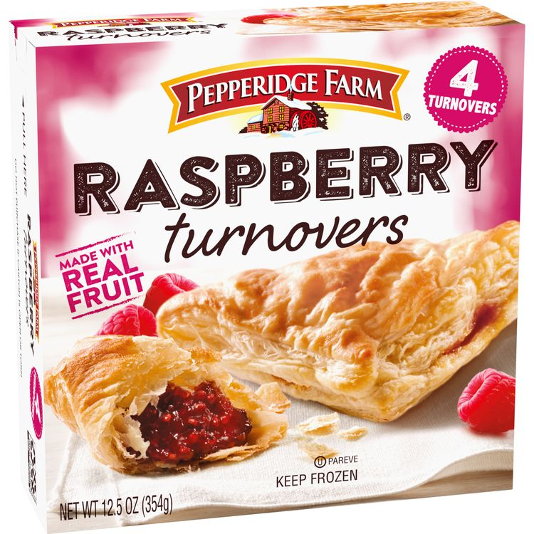 Pepperidge Farm® Frozen Raspberry Turnovers Pastries, 12.5 oz. Box, 4-Count