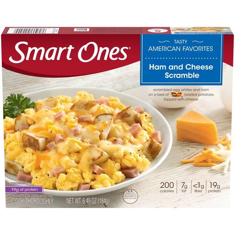 Smart Ones Ham & Cheese Scramble, Frozen Meal, 6.49 oz Box