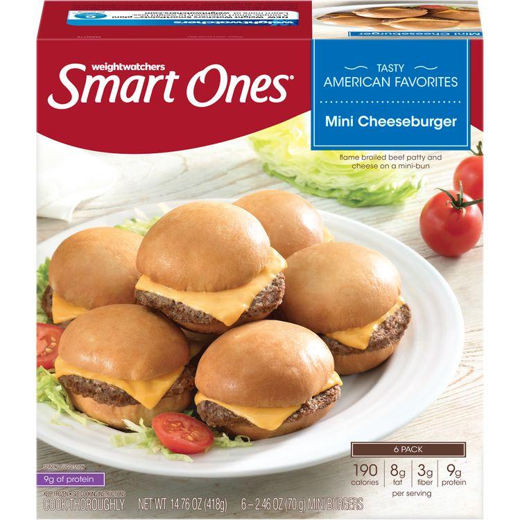 Smart Ones Mini Cheeseburgers, Frozen Appetizer