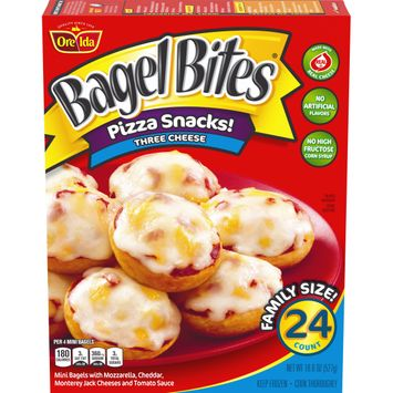 Bagel Bites Three Cheese Pizza Snacks, 24 ct - 18.6 oz Box