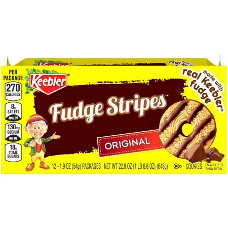 Keebler Fudge Stripes Original Cookies 12-1.9 oz. Packs