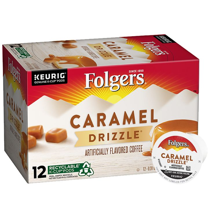 Folgers Caramel Drizzle ® Flavored Coffee K-Cup ® Pods
