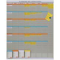 Kit planning en français / tableau T-cartes - gris
