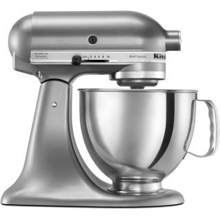 KitchenAid KSM150PS Contour Silver 10 Speed 5 Qt. Stand Mixer with Direct Drive Transmission