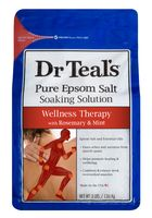 Dr Teals Wellness Therapy with Rosemary & Mint Pure Epsom Salt Soaking Solution 3lbs