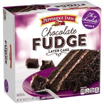 Pepperidge Farm® Frozen Chocolate Fudge Layer Cake, 19.6 oz. Box