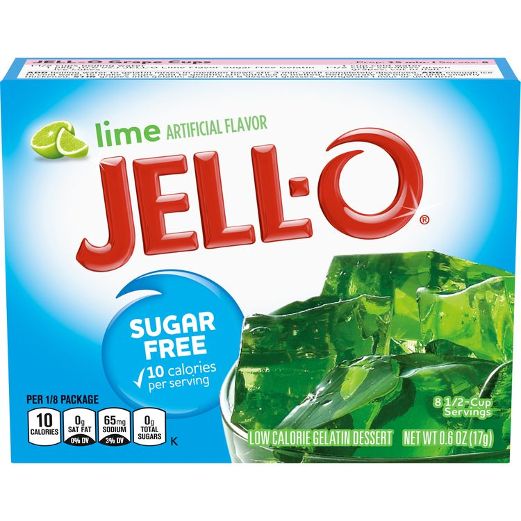 Jell-O Sugar Free Lime Instant Gelatin Mix