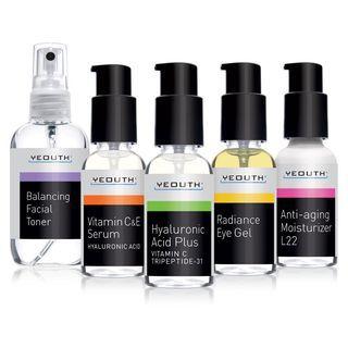 YEOUTH - Complete Anti-Aging Skin Care System (Set of 5) 4pc: 1 fl oz (30ml) + 1pc: 3.4 fl oz (100ml)